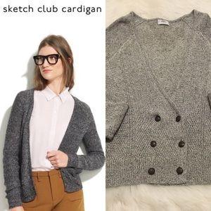 Madewell Wallace Sketch Club Cardigan Light Grey